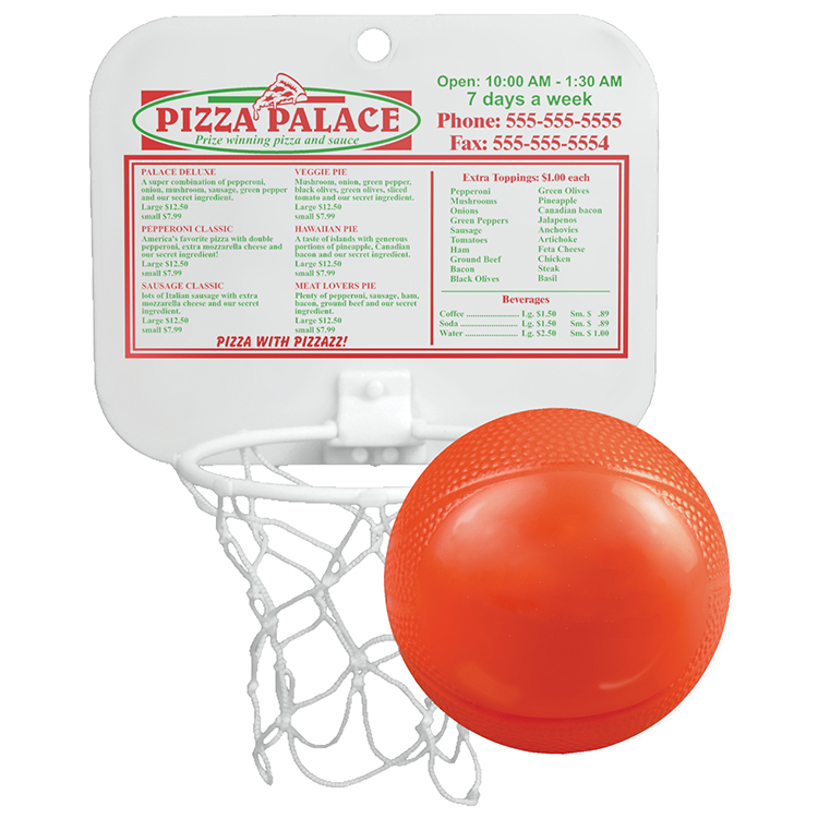Backboard With Unimprinted Vinyl Ball