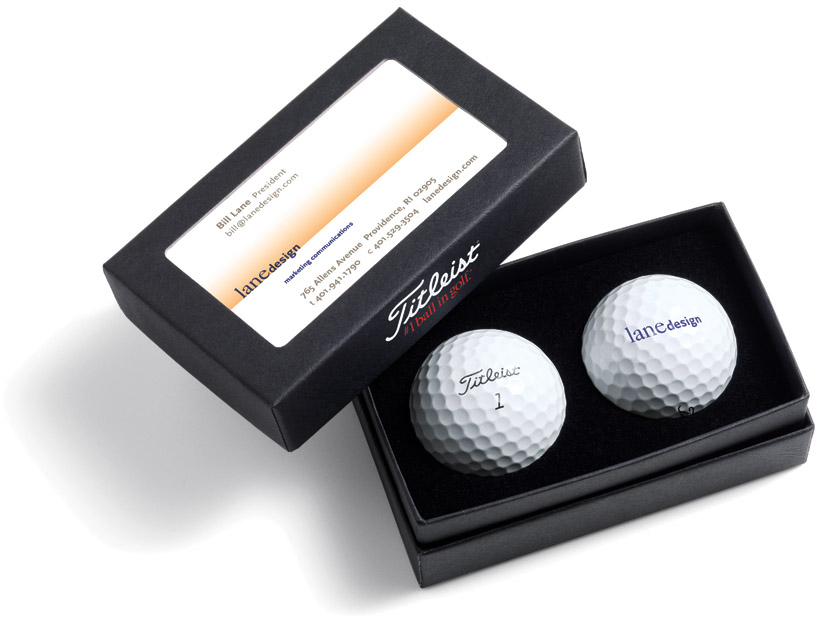 Titleist Business Card Box with TruFeel™ Golf Balls