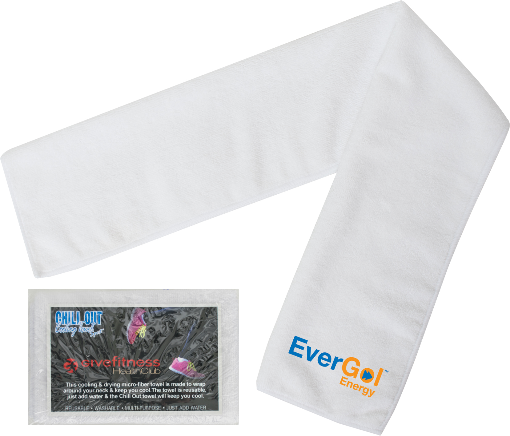 Chill Out Sport Towel With Custom Packaging