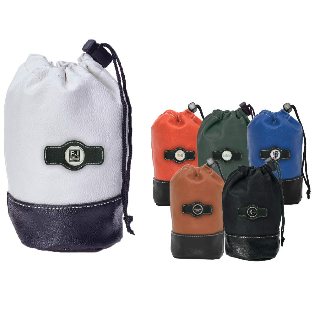 Synthetic Leather Drawstring Pouch