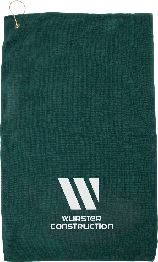 "15"" X 24"" Microfiber Super Soft Towel With Hook & Grommet"