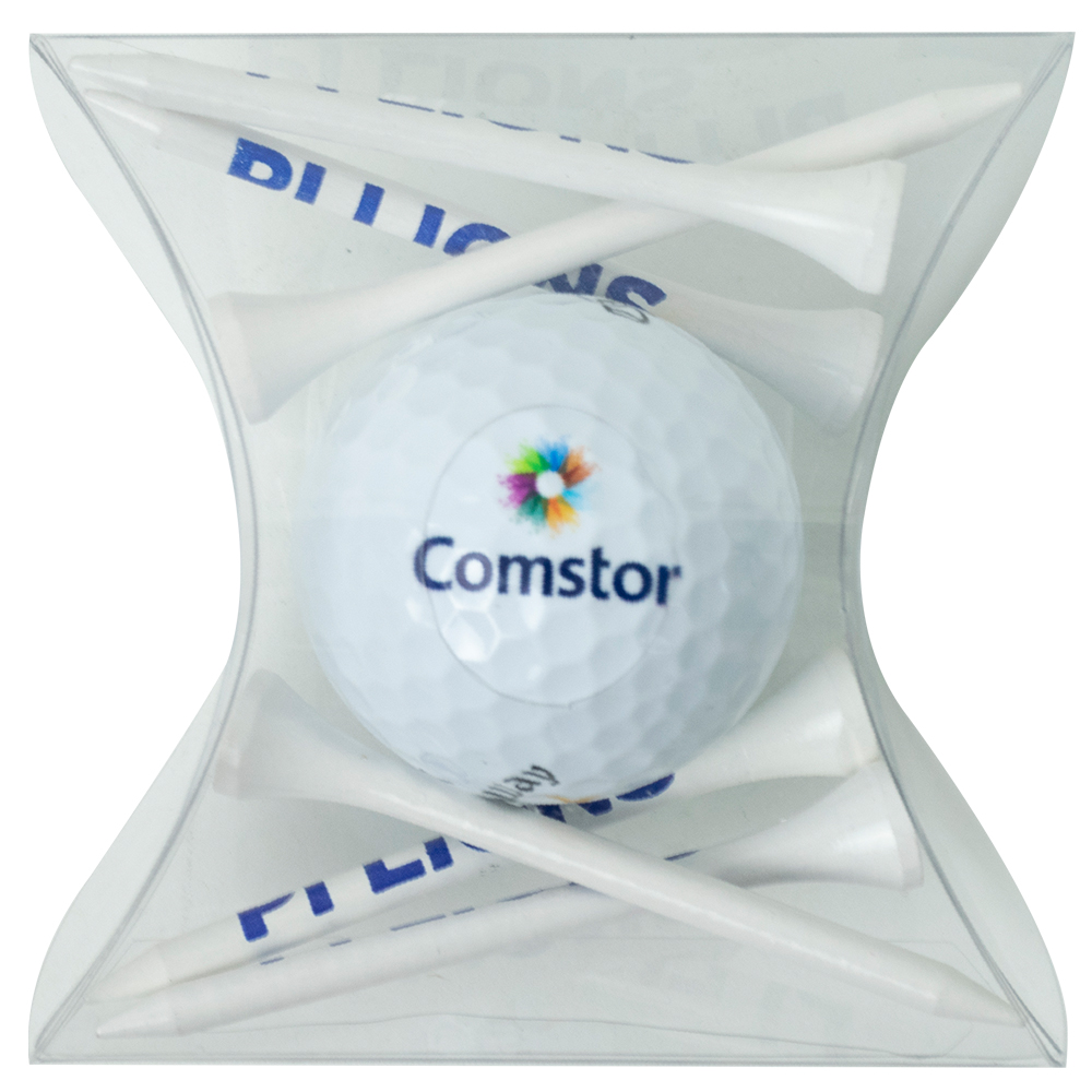 Pillow Pack with Tees & 1 Golf Ball