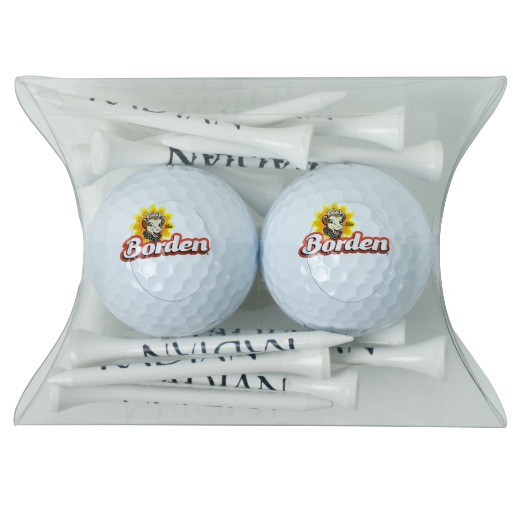 Pillow Pack with Tees & 2 Golf Balls