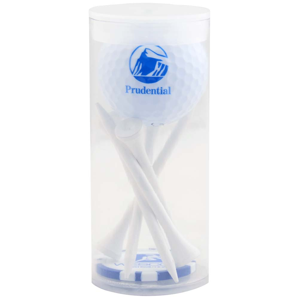 1 Ball, 5 Tee Tube With Poker Chip Ball Marker