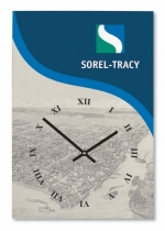 "Rectangle Acrylic Wall Clock (11""x16""x1/8) with Full Colour Imprint"