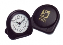 "Slim Line Travel Alarm Clock (2 7/8""x3"")"