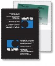 "Vinyl Wallet Liability & Registration holder, opened (4.5"" x 6"") closed (4."