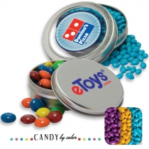 Solid Circular Tin- Chocolate Sunflower Seeds Candy by Color