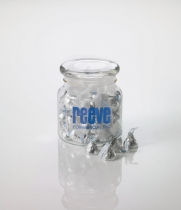 22 oz. Jar filled with Stock Wrapped Candies (page 25)