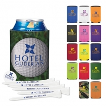 Collapsible Koozie® Golf Tee Kit