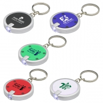 Round Simple Touch LED Keychain