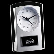 Silver Mallory Clock