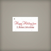 Wide Plantable Holiday Tag, 1-Sided