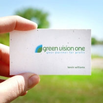 Seed Paper Business Card, 1-Sided