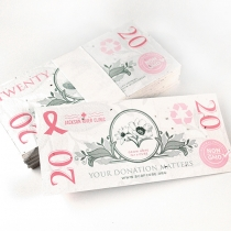Breast Cancer Awareness Seed Paper Bills