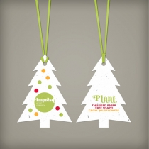 Modern Evergreen Ornament, 2-Sided