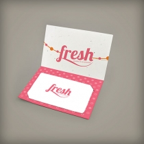 Small Folded Seed Paper Gift Card Holder, 1-Sided