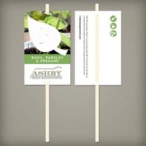 Pre-Designed Herb Seed Paper Planting Sticks