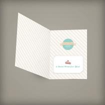 Medium Folded Seed Paper Gift Card Holder, 1-Sided
