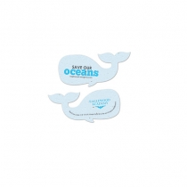 Save Our Oceans Plantable Whale Shape, 2-Sided