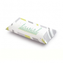 Seed Paper Pillow Box, 2-Sided