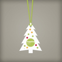 Modern Evergreen Ornament, 1-Sided