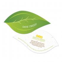 Save Trees Leaf Plantable Shape, 2-Sided