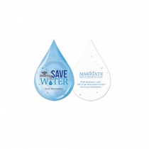 Water Conservation Plantable Droplet Shape, 2-Sided