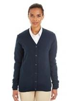 Harriton® Pilbloc™ V-Neck Ladies' Button Front Cardigan Sweater