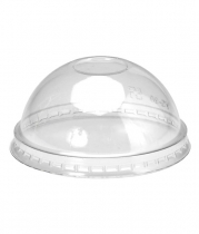 Domed Lids for Bio Plastic Cups (16 Oz.)