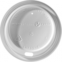 White Dome Lids for Paper Cups (8 Oz.)
