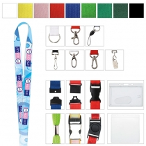"""Polyester 4 Color Process Lanyard (3/8""""x19 5/8"""")"""