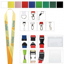 """Polyester 4 Color Process Lanyard (5/8""""x19 5/8"""")"""