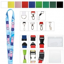 """Polyester 4 Color Process Lanyard (3/4""""x19 5/8"""")"""