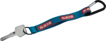 """3/4"""" Dye Sublimated Key Chain with Carabiner"""