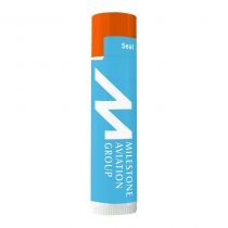SPF 15 Lip Balm in White Tube and Colored Cap