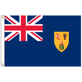 turks & caicos 2' x 3' outdoor nylon flag with heading and grommets