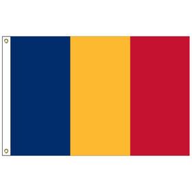 romania 6' x 10' outdoor nylon flag w/ heading & grommets