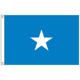 somalia 6' x 10' outdoor nylon flag w/ heading & grommets