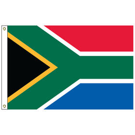 south africa 6' x 10' outdoor nylon flag w/heading & grommet