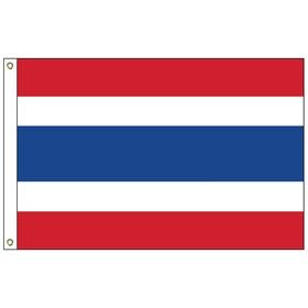 thailand 6' x 10' outdoor nylon flag w/ heading & grommets