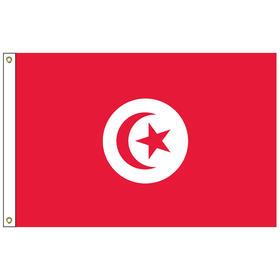 tunisia 6' x 10' outdoor nylon flag w/ heading & grommets
