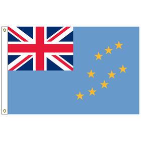 tuvalu 5' x 8' outdoor nylon flag w/ heading & grommets