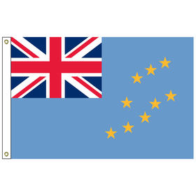 tuvalu 6' x 10' outdoor nylon flag w/ heading & grommets