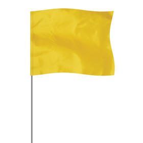 "Yellow 4"" x 5"" Marker Flag on a 21"" Wire"