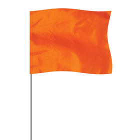 "Orange 4"" x 5"" Marker Flag on a 21"" Wire"