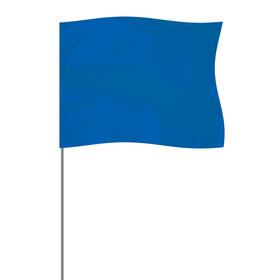 """Blue 4"""" x 5"""" Marker Flag on a 21"""" Wire"""