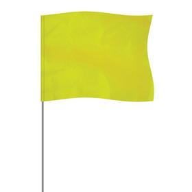 "Lime 4"" x 5"" Marker Flag on a 21"" Wire"