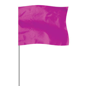 "purple 4"" x 5"" marker flag on a 36"" wire"