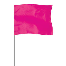 "Pink 4"" x 5"" Marker Flag on a 36"" Wire"